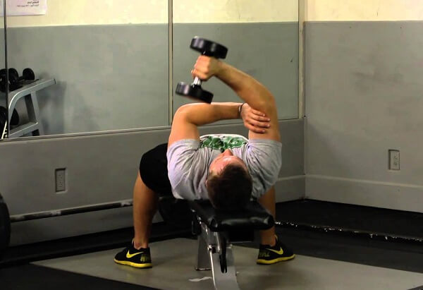 one arm lying dumbbell triceps extension nasıl