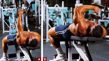 one arm lying dumbell triceps 2017