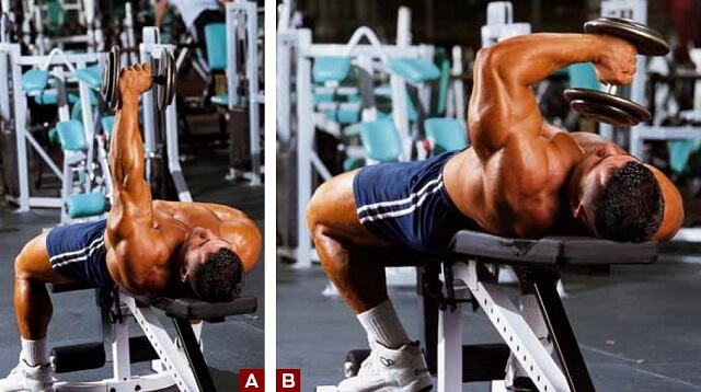 one arm lying triceps