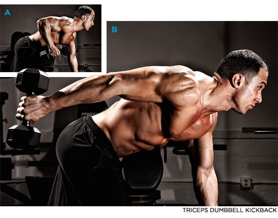 triceps dumbbell kickback