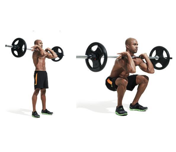 barbell front squat ile ilgili görsel sonucu