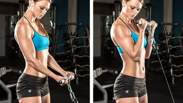 Cable biceps curl