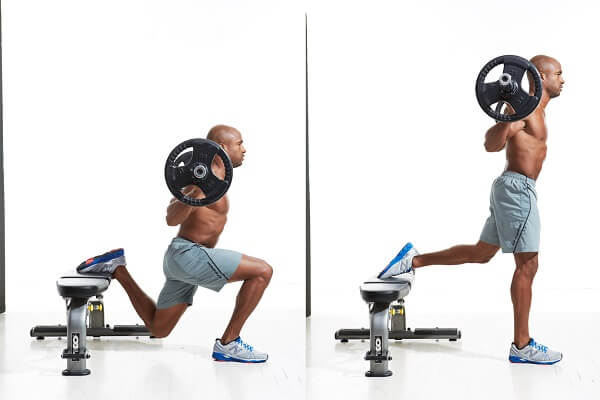 Bulgarian Barbell Squat