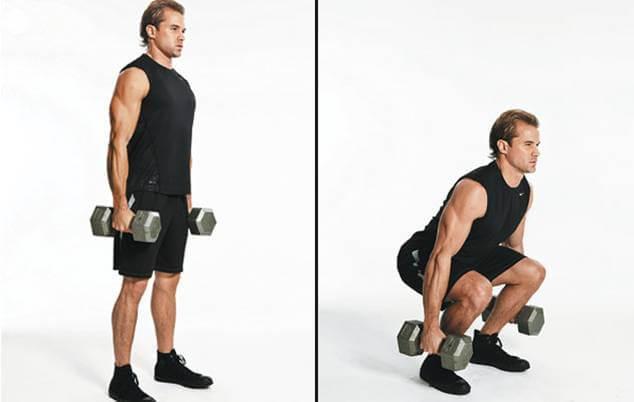 Dumbbell Squat Nasıl yapılır