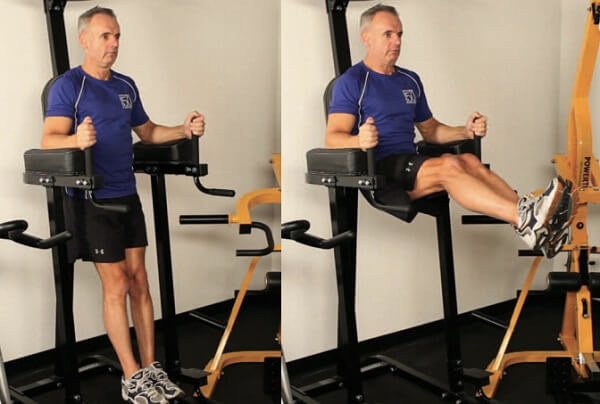 Leg raises machine 2