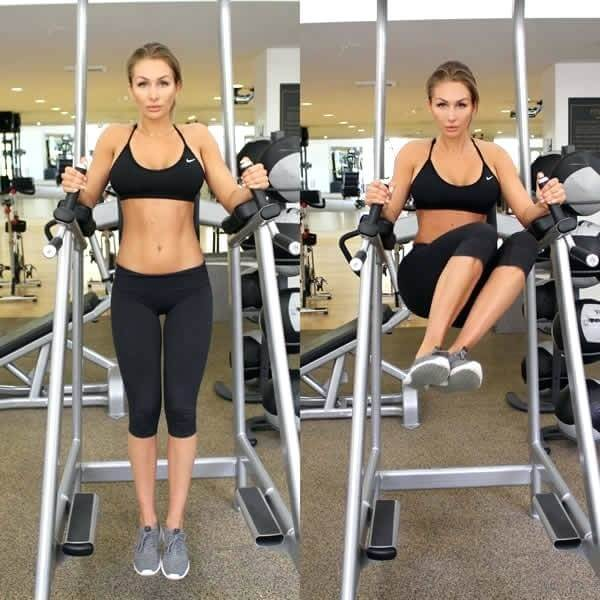 Leg raises machine side to side