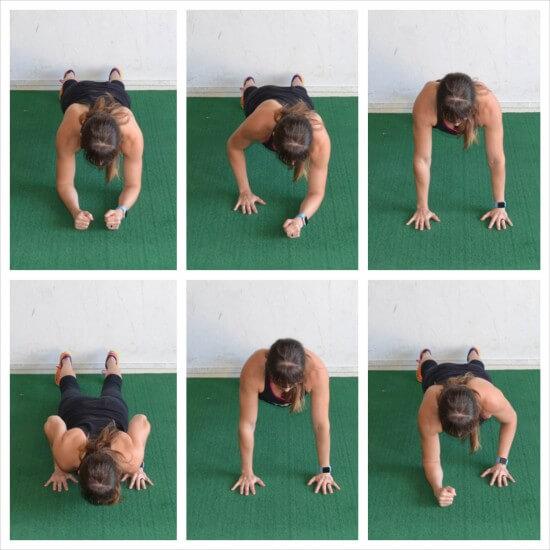 Plank Push Up - Dirsek Destekli Şınav