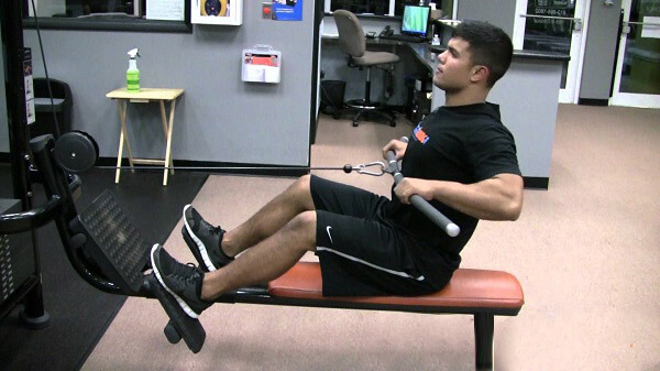 Seated cable wide grip row