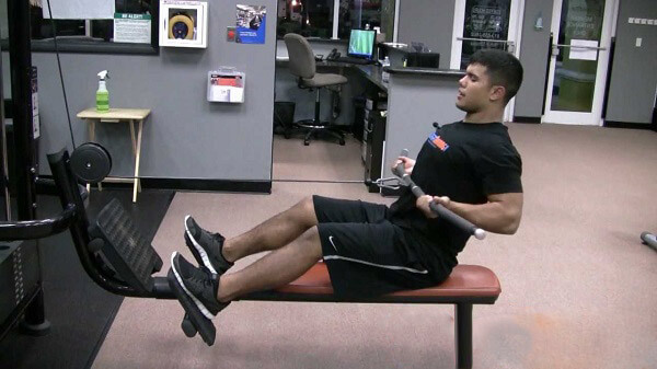 Seated cable reverse grip row