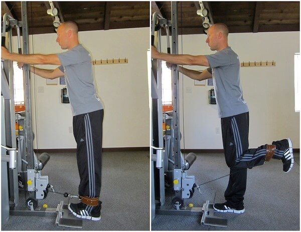 Standing Cable Leg Curl
