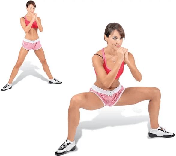 sumo squat