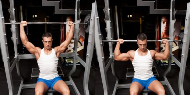 Smith Machine Behind The Neck Press
