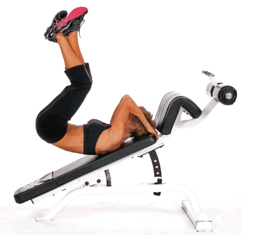 incline leg raises