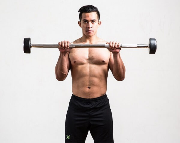 Barbell curl reverse
