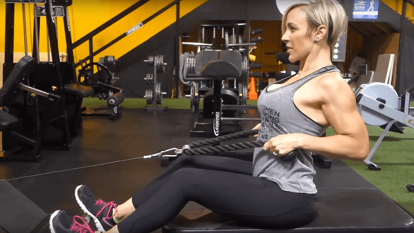 Seated cable rope row