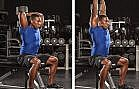 seated triceps dumbbell extension