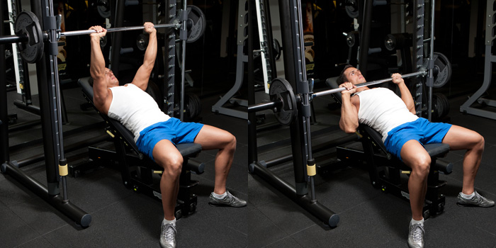 Smith Machine incline Bench Press