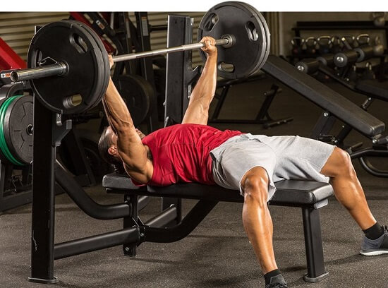 Wide Grip Barbell Bench Press