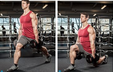 dumbell lunges